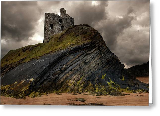 Forgotten Castle In Ballybunion Greeting Card
