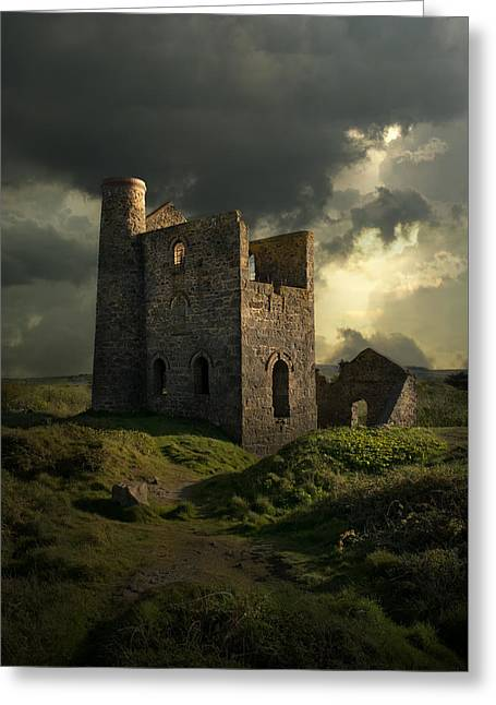 Forgotten Castle Greeting Card by Jaroslaw Blaminsky