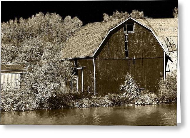 Forgotten Farm Greeting Card by Scott Hovind