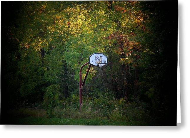 Hoosiers Greeting Cards - Forgotten Hoop Greeting Card by Michael L Kimble