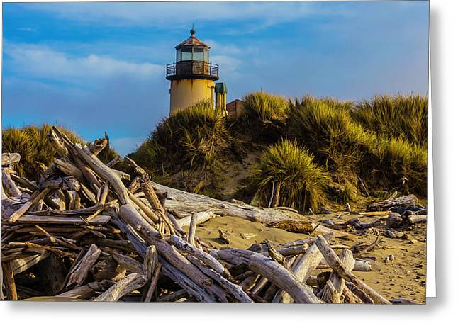 Forgotten Lighthouse Greeting Card by Garry Gay