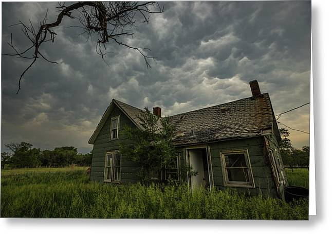 Greeting Card featuring the photograph Forgotten Mammatus  by Aaron J Groen