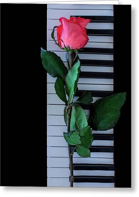 Forgotten Melody Greeting Card by Elvira Pinkhas