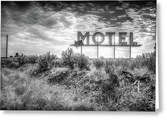 Forgotten Motel Sign Greeting Card by Spencer McDonald