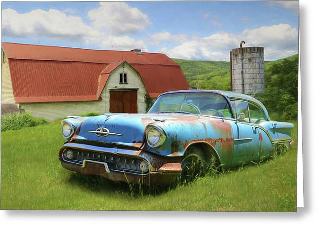 Forgotten Olds Greeting Card by Lori Deiter