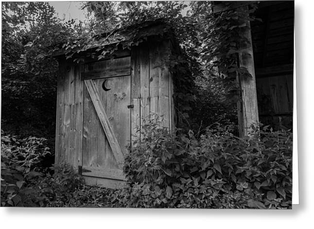 Forgotten Outhouse Greeting Card by Denise McKay