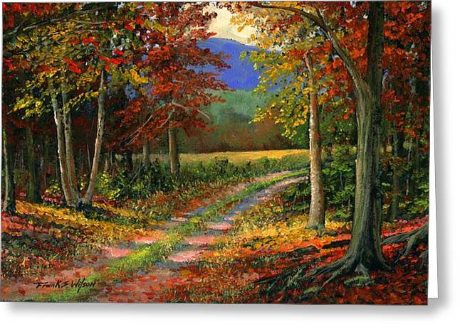 Woods Greeting Cards - Forgotten Road Greeting Card by Frank Wilson