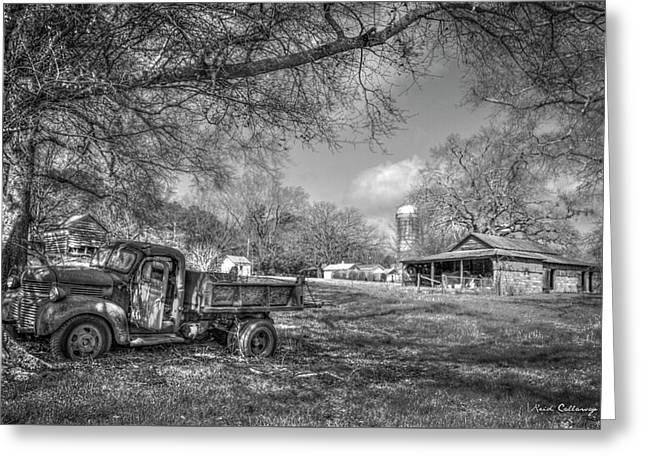 Forgotten Times Georgia Farm Scene Art Greeting Card by Reid Callaway