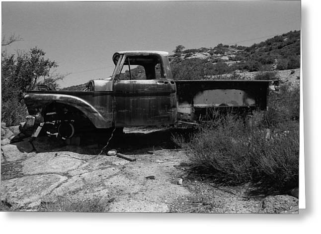 Forgotten Truck Greeting Card by Mallory Harben
