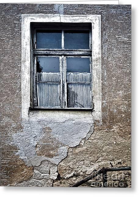 Forgotten Window Greeting Card by Jutta Maria Pusl
