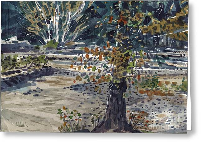 Fork In The White River Greeting Card by Donald Maier