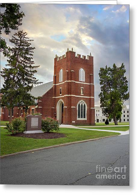 Fork Union Military Academy Wicker Chapel Sized For Blanket Greeting Card