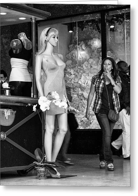 Form Check - Mannequin - Street Shot Greeting Card by Nikolyn McDonald