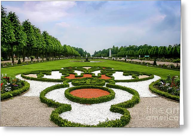Formal Garden Greeting Card by Amy Sorvillo