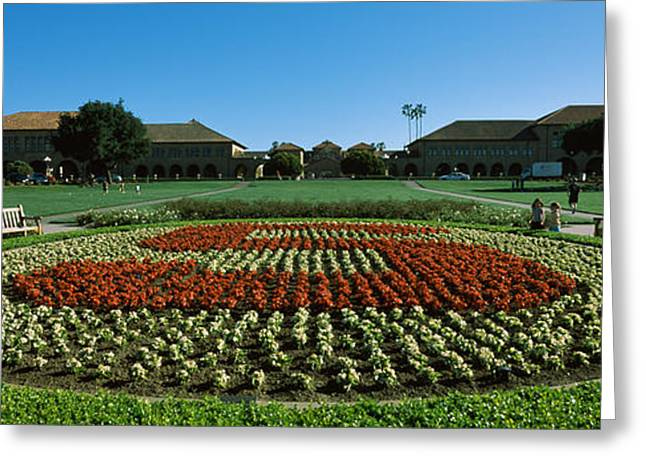 Formal Garden At The University Campus Greeting Card by Panoramic Images