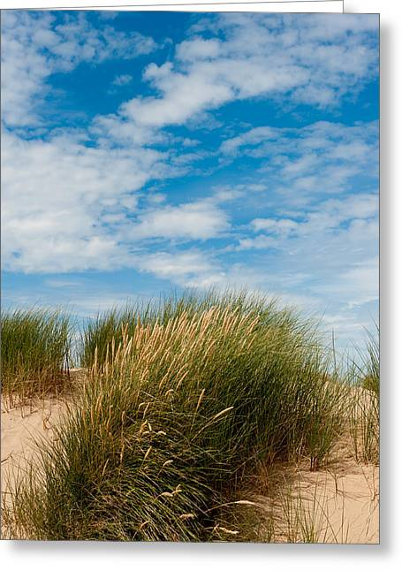 Formby Sand Dunes And Sky Greeting Card