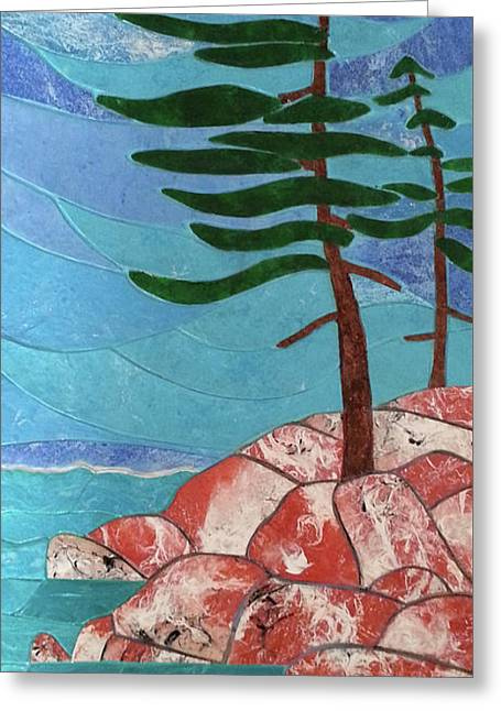 Formed By The Elements Greeting Card by Michelle Vyn