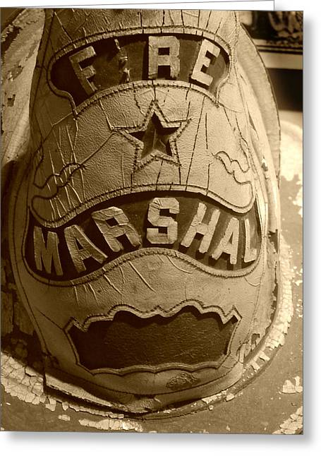 Former Fire Marshal Hat Greeting Card