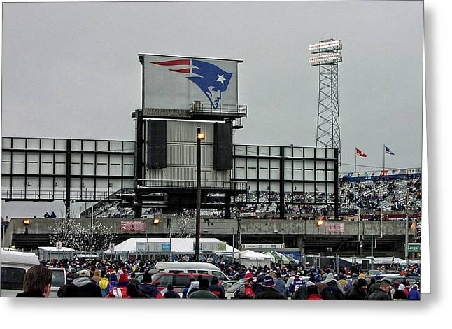 Former Foxboro Stadium Greeting Card by Mike Martin
