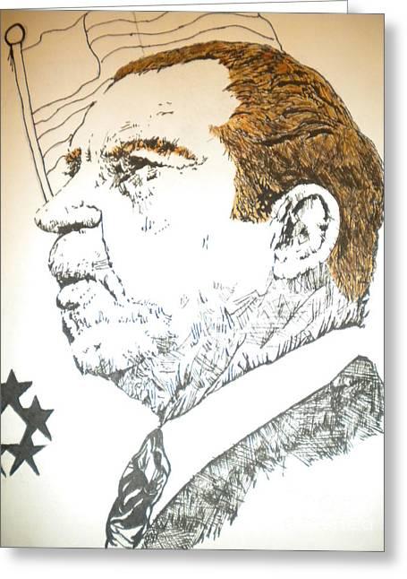 Former President Nixon Greeting Card