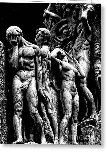 Greeting Card featuring the photograph Forms In Marble by Paul W Faust - Impressions of Light