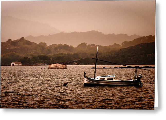 Fornells Bay In Menorca Island - Even Most Beautiful Places Have Secrets To Hide By Pedro Cardona Greeting Card