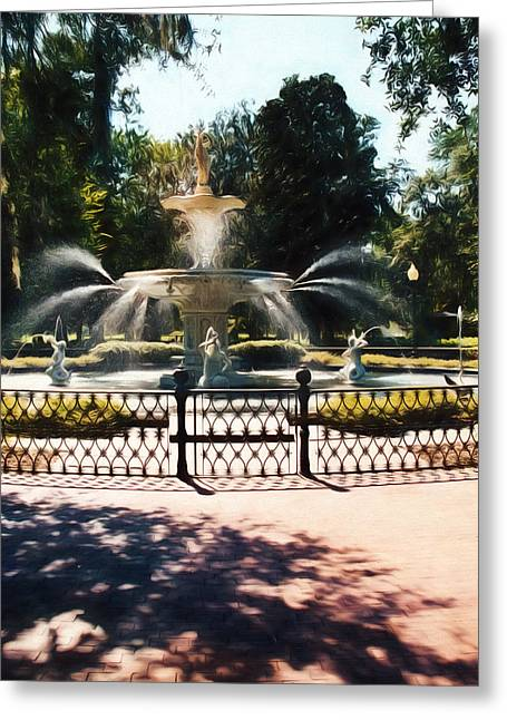 Forsyth Park Fountain - Savannah - Ga Greeting Card
