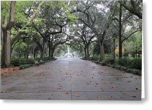 Forsyth Park In The Fall Greeting Card