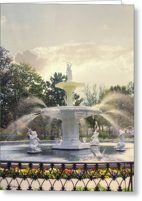 Forsyth Park Fountain - Savannah Greeting Card
