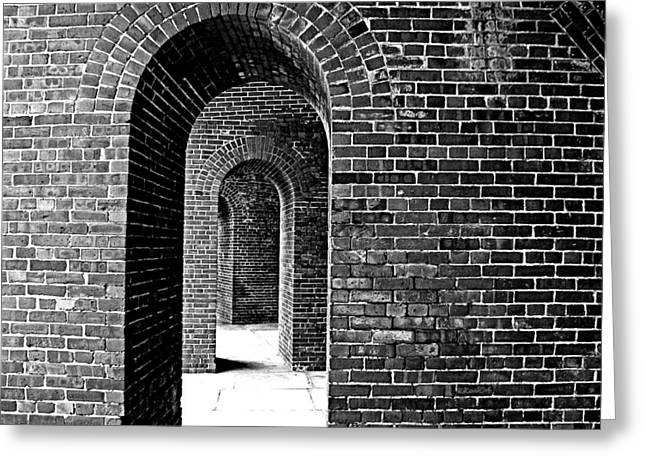 Fort Arches In Black And White Greeting Card