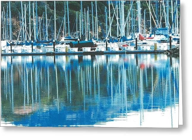Fort Baker Harbor - Sausalito Ca. - Below Vista Point At The North End Of The Golden Gate Bridge Greeting Card