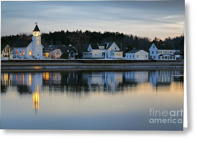 Fort Baldwin Winter Evening Greeting Card