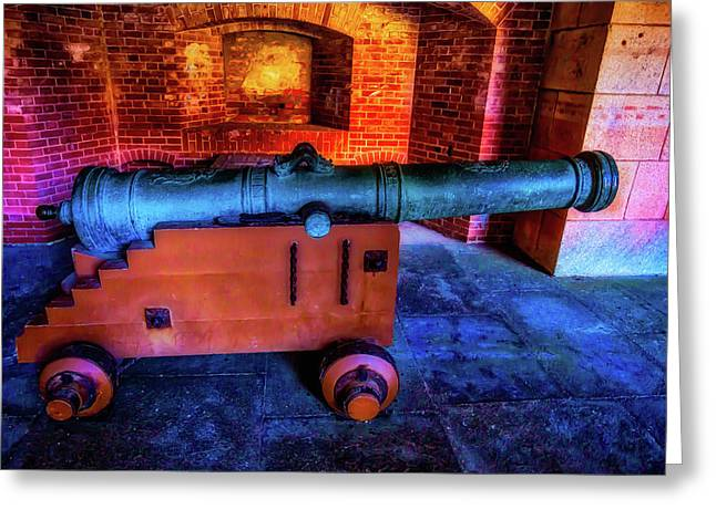 Fort Cannon Greeting Card by Garry Gay