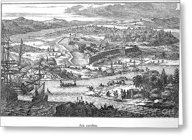 Fort Caroline, 1673 Greeting Card by Granger
