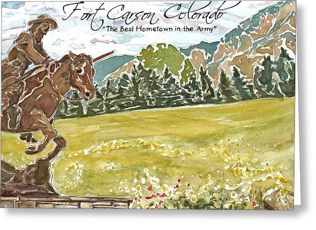 Fort Carson Best Hometown In The Army Greeting Card