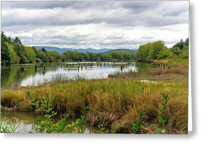 Greeting Card featuring the photograph fort Clatsop on the Columbia River by Michael Hope