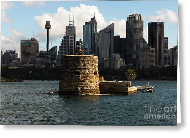Fort Denison Sydney Greeting Card by Andrew Michael