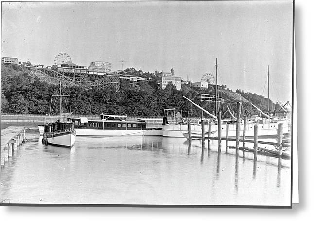 Greeting Card featuring the photograph Fort George Amusement Park by Cole Thompson