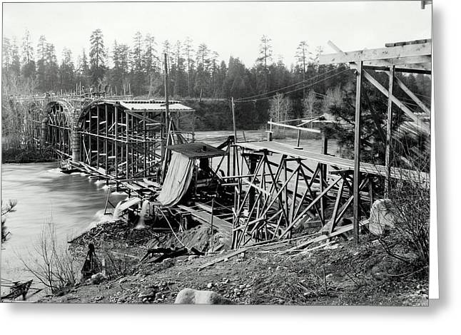 Fort George Wright Bridge - Spokane 1927 Greeting Card by Daniel Hagerman