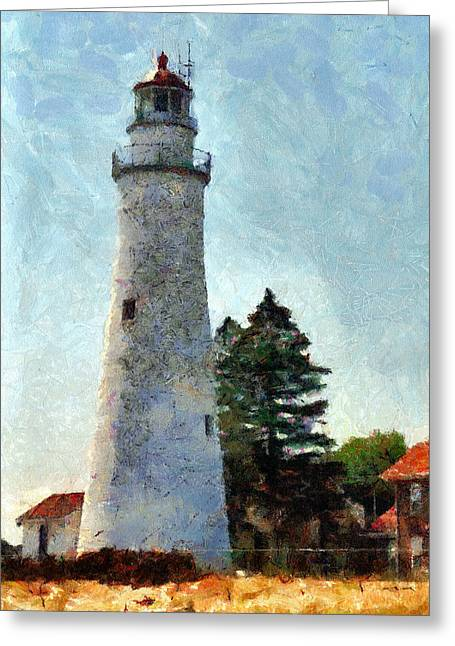 Fort Gratiot Lighthouse - 1 Greeting Card by Darrell Foltz