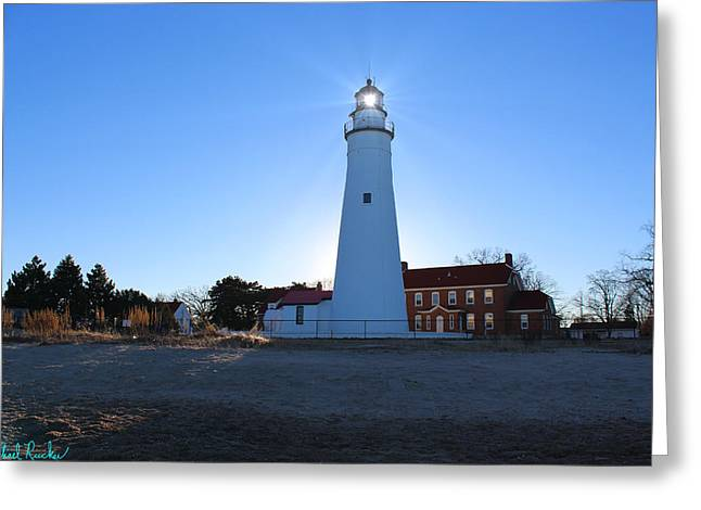Fort Gratiot Lighthouse Greeting Card by Michael Rucker
