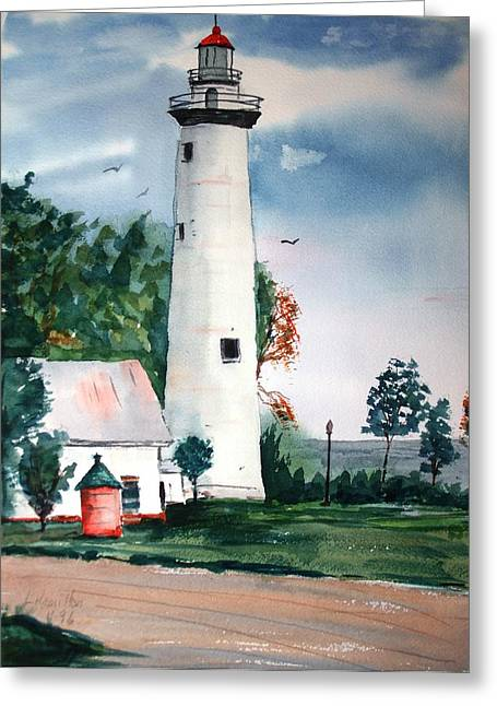 Fort Gratiot Lighthouse Michigan Greeting Card
