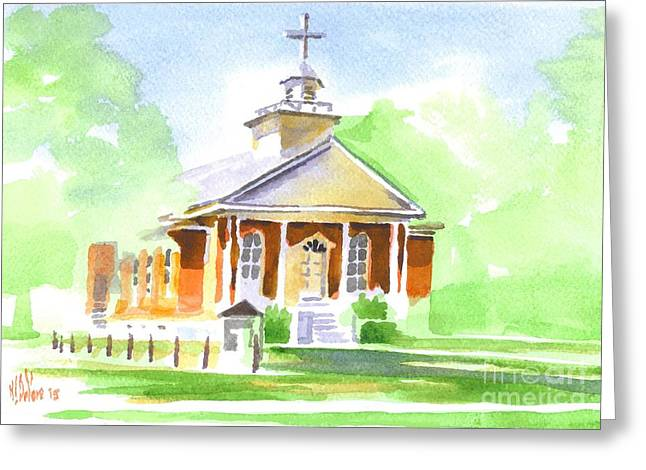 Greeting Card featuring the painting Fort Hill Methodist Church 2 by Kip DeVore