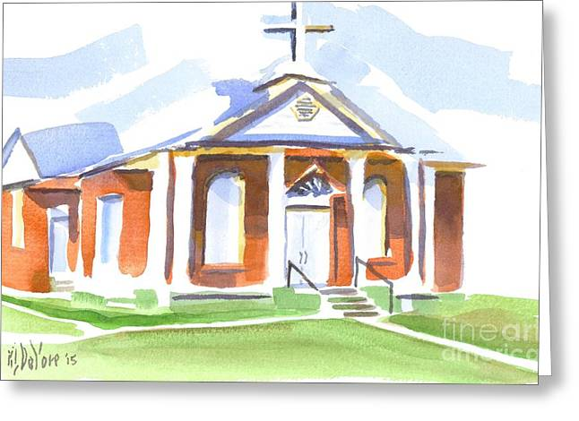 Greeting Card featuring the painting Fort Hill Methodist Church by Kip DeVore