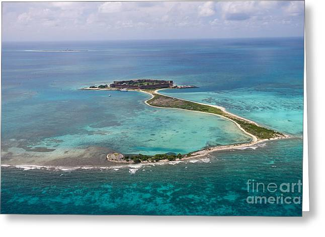 Fort Jefferson Aerial View Dry Tortugas National Park Greeting Card