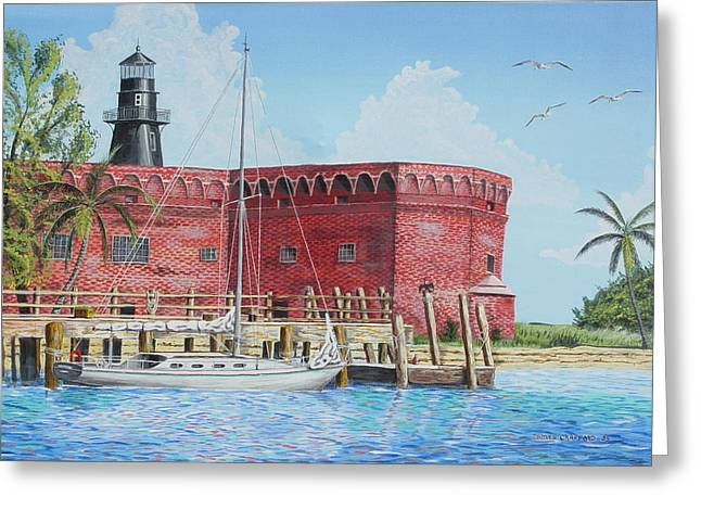 Fort Jefferson Greeting Card by James Crafford