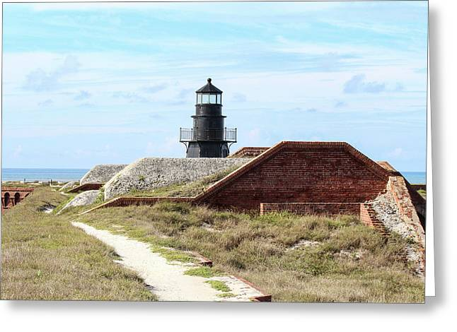 Fort Jefferson Lighthouse 2 Greeting Card