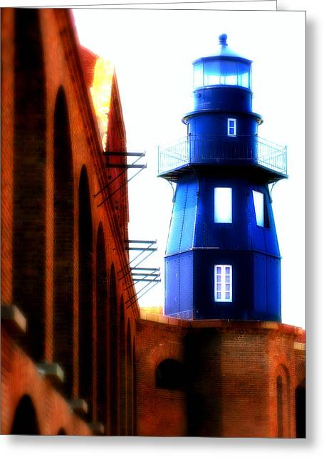 Fort Jefferson Lighthouse Greeting Card by Perry Webster