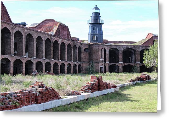 Fort Jefferson Lighthouse Greeting Card