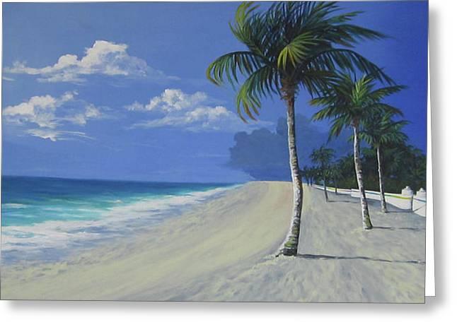 Fort Lauderdale Beach Greeting Card by Anne Marie Brown